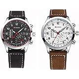 Pair of CURREN 8152 Sport fashion watches Leather Men Wrist Watches