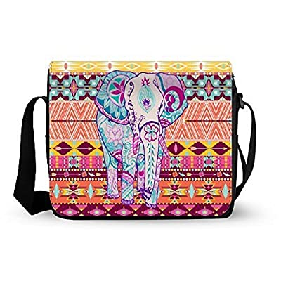 8934edfb86 Classic Simple Aztec Tribal Elephant Decorative pattern Design Messenger Bag  30%OFF