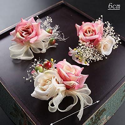 XPY&DGX Accessoires De Cheveux De Mariée En Épingle À Cheveux De Mariage,Coiffe de mariée de printemps et d'été douce accessoires simulation fleur bijoux robe de mariée che