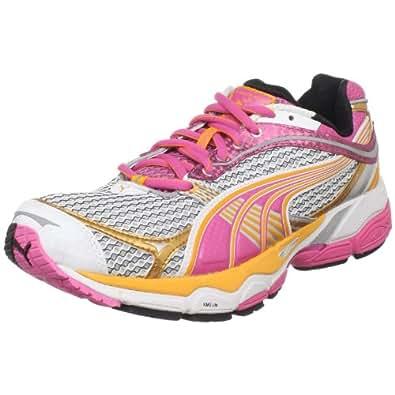 PUMA Women's Complete Ventis 2 Running Shoe, White/Silver/Shocking Pink, 11 B US
