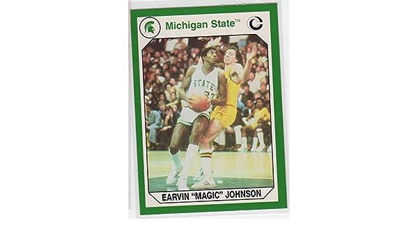 82b2ce9d28fc Amazon.com  Earvin Magic Johnson Michigan State Spartans MSU College  Trading Card- 186  Collectibles   Fine Art