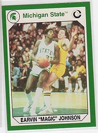 e6e692cbe955 Earvin Magic Johnson Michigan State Spartans MSU College Trading Card- 186