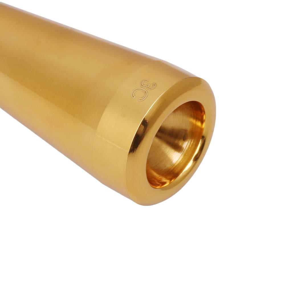 Homeswitch Embouchure en m/étal 3C pour trompette standard 8,7 x 2,7 cm Silver