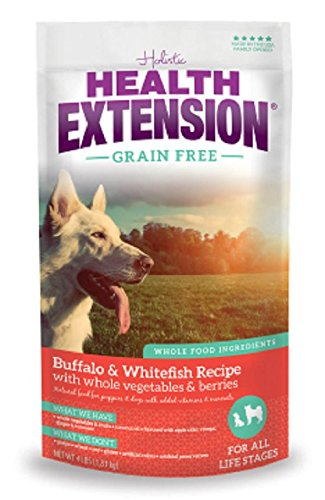 Health Extension Allergix Dog Food (Buffalo, Whitefish & Chickpea Formula), 4 lbs