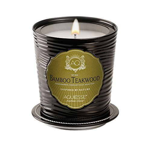 Aquiesse Bamboo Teakwood Luxe Tin Candle