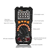 Digital Multimeter, 6000 Counts Tacklife DM09 TRMS Multimeter NCV Detection Amp Ohm Volt Multi Meter, Live Line, Frequency, Resistance, Capacitance, Duty Cycle Tester 2.2inch Large LCD