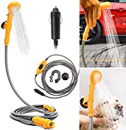 Riloer 12V Portable Automobile Shower Set Water Pump Travel Camp Electric Shower Head Camping Boat Auto Car Ca