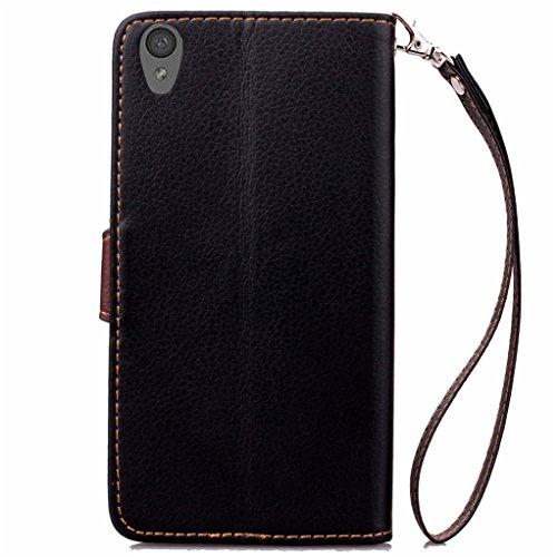 Trumpshop Smartphone Carcasa Funda Protección para OnePlus One + Verde + PU Cuero Caja Protector Billetera con Cierre magnético la Ranura la Tarjeta Choque Absorción Negro