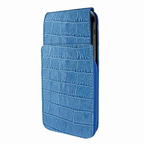 Piel Frama 792 Blue Crocodile iMagnum Leather Case for Apple iPhone X by Piel Frama (Image #3)