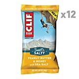 Clif Bar - Sweet & Salty Energy Bar - Peanut Butter & Honey with Sea Salt - (2.4 Ounce Protein Bar, 12 Count)