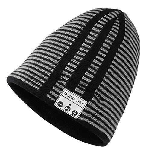 (Bluetooth Beanie, Yokon Bluetooth Hat Wireless Smart Headset Musical Knit Cap for Women Men Fitness Outdoor Sports Skiing Running Skating Walking)