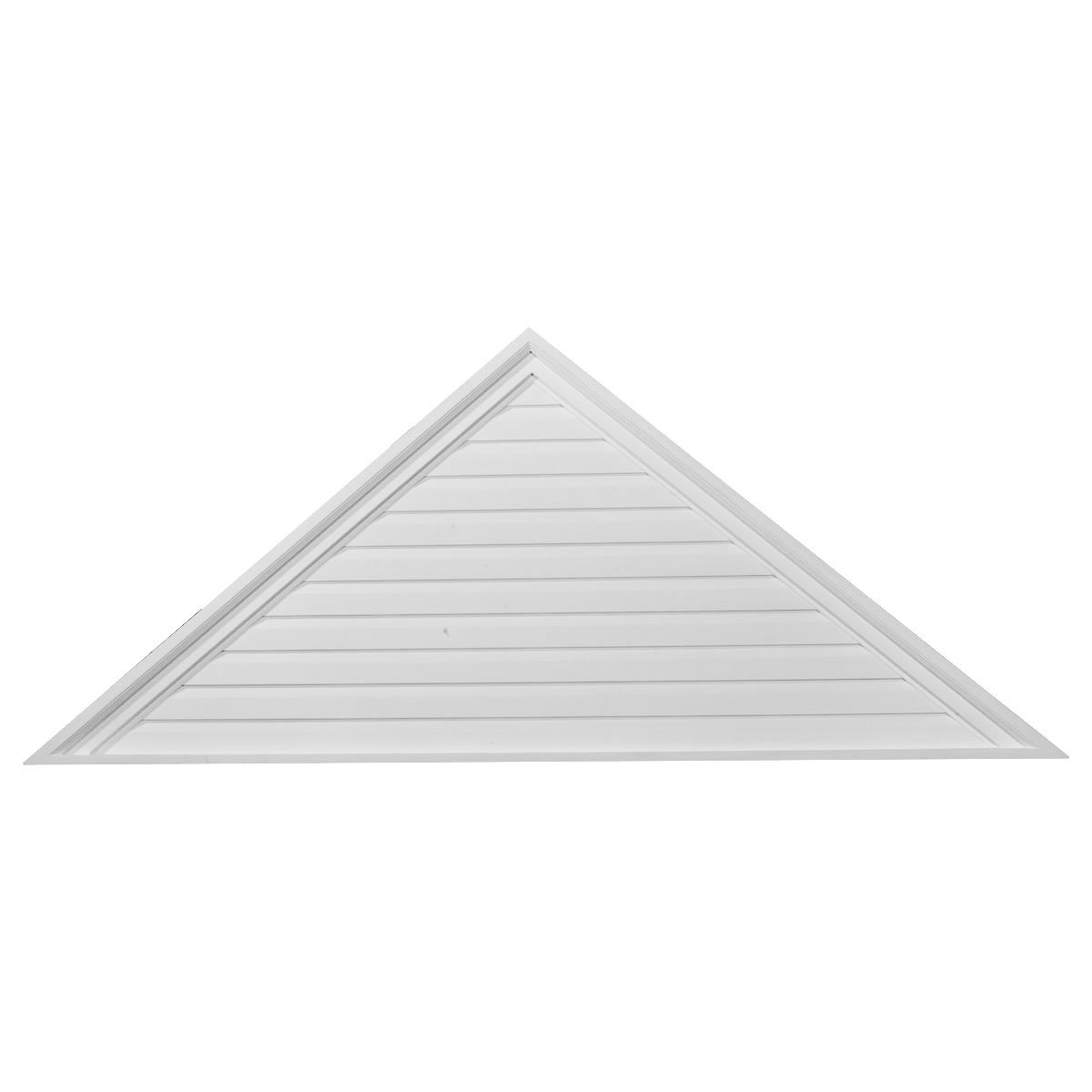 Ekena Millwork GVTR72X18F 72-Inch W x 18-Inch H x 2 1/4-Inch P Pitch 6/12 Triangle Gable Vent, Functional