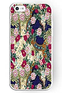 SPRAWL EYE ATTRACTIVE Hard Plastic Case Cover Shell for Apple iPhone 5C-- Elegant Flower Drawing