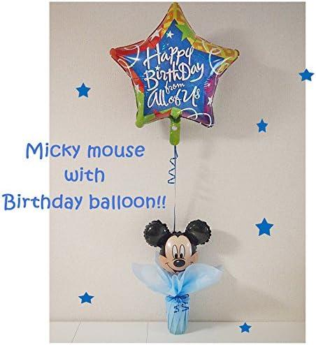 お誕生日はミッキーマウスと一緒にバルーン&お菓子でお祝い♥ 「ミッキーマウス with バースデイ・スターバルーン」 プレゼントに素敵なサプライズを演出しましょ♪ 男の子が喜ぶ素敵なギフト♪ お届け日時指定も可能です♪