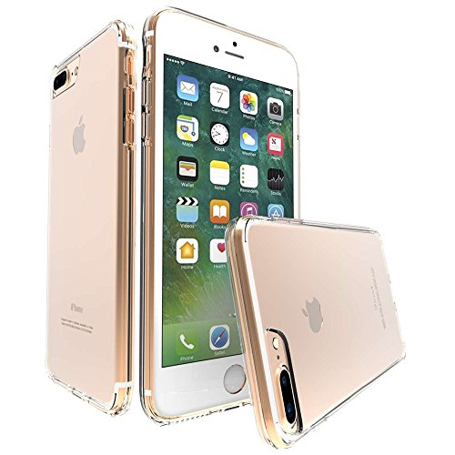 iPhone 7 Plus Case, MoboZx [Premium Flexible] Transparent Innovative Dotted-Buffer Protective Dual...