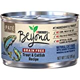 Purina Beyond Grain Free Natural, Trout & Catfish Pate Recipe Canned Cat Food, 3 oz, case of 12
