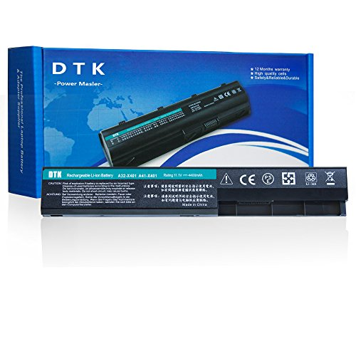 DTK New Laptop Battery Replacement for ASUS F301 F401 F501 S301 S401 S501 X 301 X401 X 501 P/N: A31-X401 [10.8V 4400MAH]