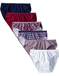 Fruit of the Loom Women's 6-Pack Assorted Cotton Bikini Panties