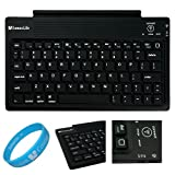 Sumaclife Wireless Bluetooth Keyboard for Acer Iconia Tab A500-10S32u 10.1-inch Tablet + SumacLife TM Wisdom*Courage Wristband