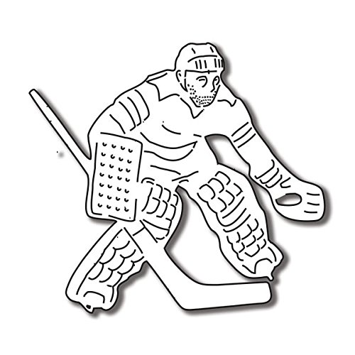 Amazon Com Hockey Goalie Diecut For Scrapbooking 50020