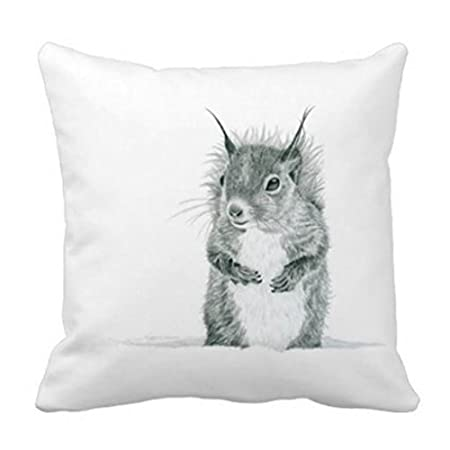 Niedliches Eichhörnchen Zeichnen Kopfkissen Quadratisch Dekorativer