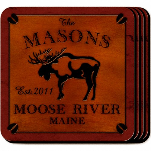Personalized Cabin Series Coaster Set - Coaster Cabin Set Series