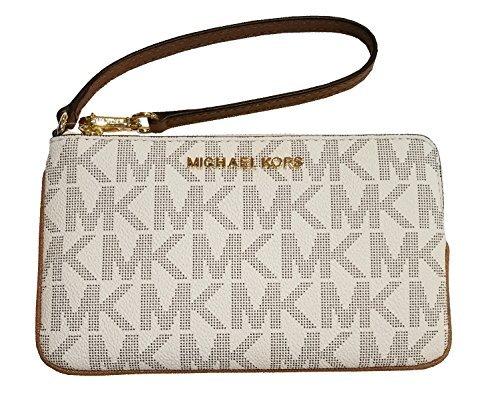 Michael Kors Jet Set Travel Large TZ Wristlet Vanilla Acorn by Michael Kors (Image #1)