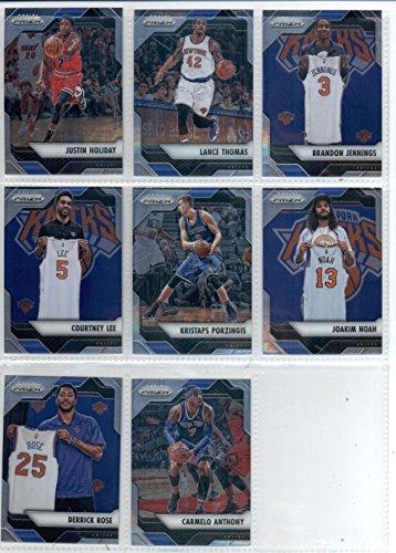 Joakim Noah Card (2016-17 Panini Prizm Veteran New York Knicks Team Set of 8 Cards: Carmelo Anthony(#121), Derrick Rose(#122), Joakim Noah(#123), Kristaps Porzingis(#124), Courtney Lee(#125), Brandon Jennings(#126), Lance Thomas(#127), Justin Holiday(#128))
