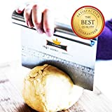 Top Rated - Culinerro – Pastry Scraper&Cutter – Pizza Dough Cutter and Chopper | Made of Stainless Steel