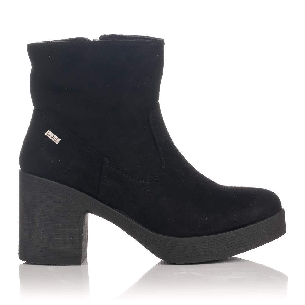 Mtng De Complementos Y Botines Negro Zapatos Botas Mustang 57523 Tacón 1c35TuFKlJ