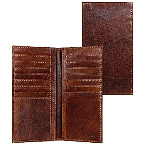 Jack Georges Mens Voyager Slim Breast Secretary Wallet (Custom Brown)
