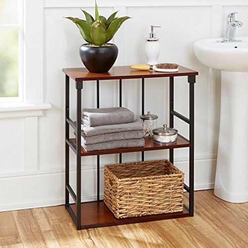Silverwood Products Mixed Material Bathroom Collection 3 Tier Wall Shelf