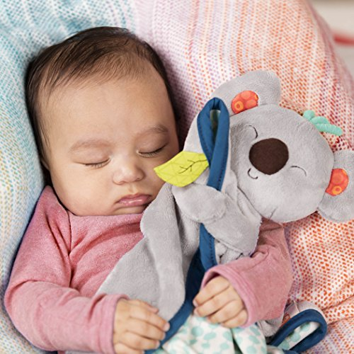B Toys Snugglies Fluffy Koko Koala Security Blanket