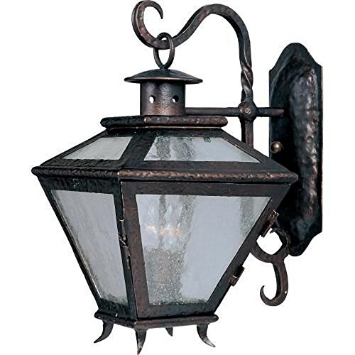 Maxim 30244ALCF, Cabo Incandescent Outdoor Wall Mount, 3 Light, 60 Watts, Country Forge