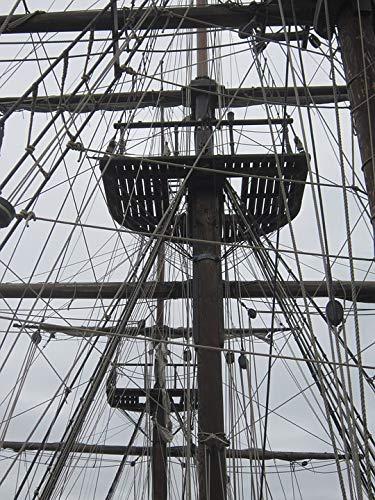 Home Comforts Canvas Print Sailboat Mast Rope Boat Bridge Halyard Sailing Vivid Imagery Stretched Canvas 32 x 24