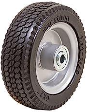 "Marathon 33101 6x2 Flat Free, Hand Truck/All Purpose Utility Tire on Wheel, 2.375"" Centered Hub 1/2"" Bearings"