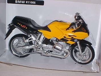 Bmw R1100s R1100 S R 1100 Gelb Schwarz 1 12 New Ray Motorradmodell