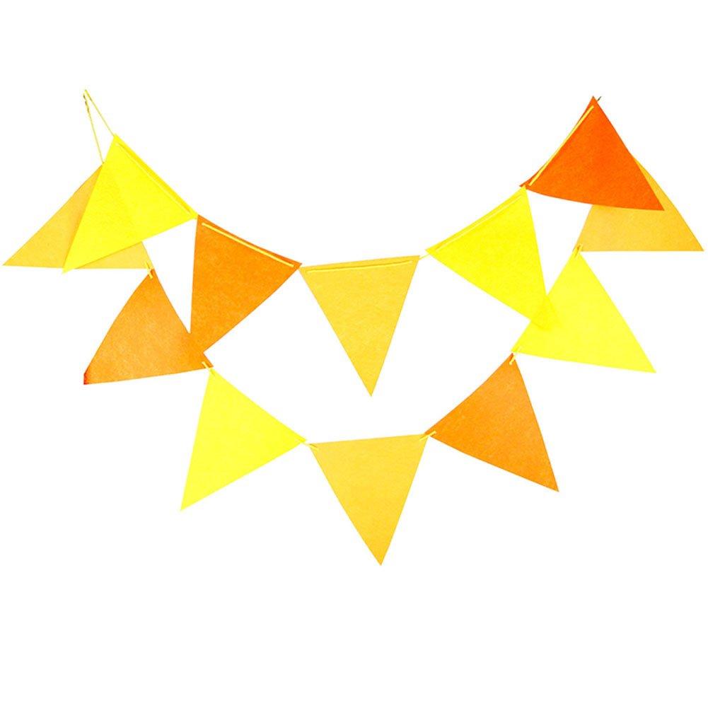 Da。Wa三角形フラグバナーマルチカラーペナントフラグ、三角形生地フラグ、クリスマスパーティー、誕生日、祭用デコレーション、3 m   B075F23DDC