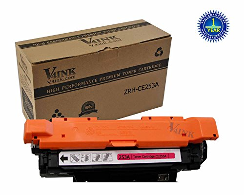 V4INK Compatible Toner Cartridge Replacement for HP CE253A ( Magenta )