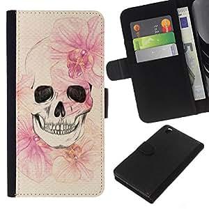For HTC DESIRE 816 Case , Death Spring Meaning Deep Metal - la tarjeta de Crédito Slots PU Funda de cuero Monedero caso cubierta de piel