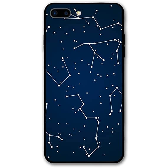 low priced 1b731 31e00 Amazon.com: IPhone 8 Plus Clear Case Free Constellation Vector ...