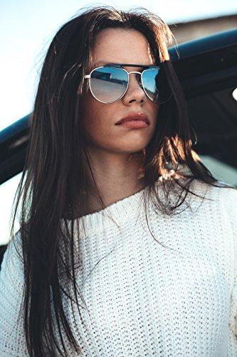 Gafas PROUST espejo Plata de TWIG hombre mujer aviador Negro sol gwHrpFqg