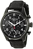 Alpina Men's AL-372B4FBS6 Startimer Pilot Chronograph Big Date Analog Display Swiss Quartz Black Watch