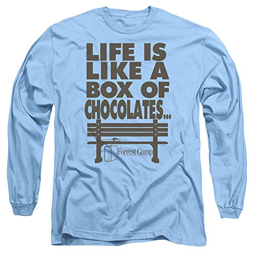 2Bhip Forrest Gump Romance Comedy Drama Movie Box of Chocolates Adult L-Sleeve T-Shirt -