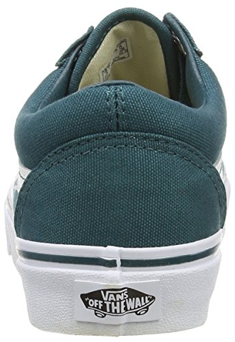 VansOld Skool - Zapatillas de Deporte Unisex adulto Azul (Canvas - Deep Teal/True White)