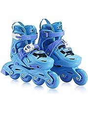 Children's Inline Skates Adjustable Size Roller Skates Outdoor Indoor Inline Skates Suitable for Boys and GirlsBeginner Design Roller Shoe