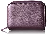 Buxton RFID Accordion Double Zippered Wizard Wallet (Plum)