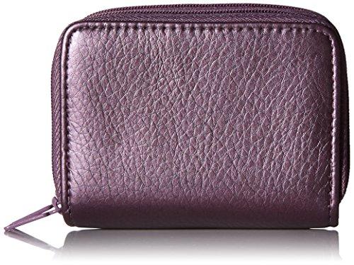 Buxton Pebble Wizard Wallet, Purple