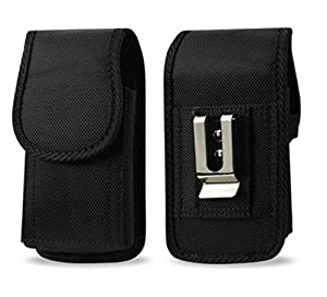 Heavy Duty Vertical Rugged Insulin Pump Universal Case / Pouch / Holster with Belt Loop & Clip, AGOZ Brand