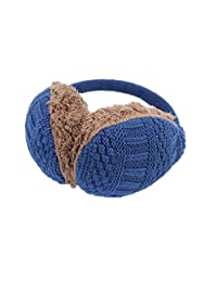Winter Earmuffs with Knitted Design and Faux Fur